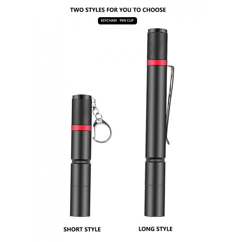 Led Flashlight Xpe Mini Waterproof Pen Light Portable Light for Emergency Camping Outdoor black_Model 530B small