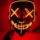 Led Mask for Halloween EL Light KTV Dance Party Scary Mask red