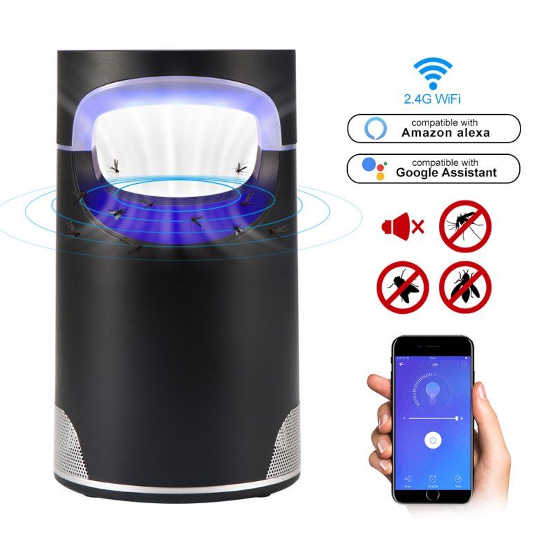 Led WiFi Smart Mosquito Killer Light USB Photocatalytic Anti Mosquito Light for Home Bedroom Pregnant Woman black