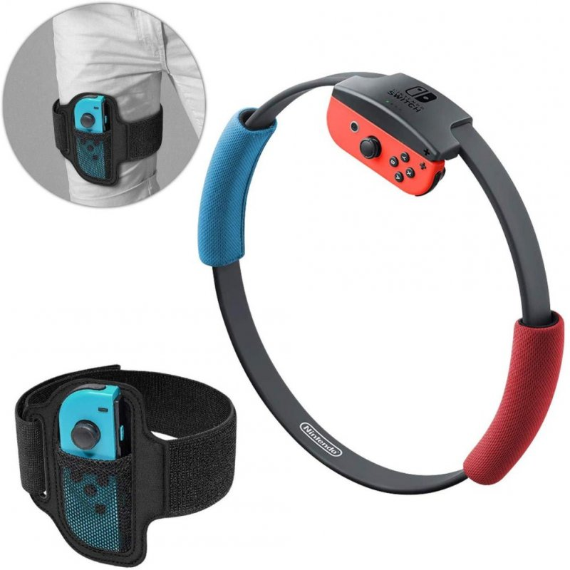Leg Strap for Nintendo Switch Ring Fit Adventure Adjustable Strap black