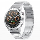 Original LEMFO LF26 Round Dial Smart Bracelet 150mAh IP67 Waterproof Bluetooth 5.0 1.3 inch Full HD IPS Screen Watch Silver_Silver steel belt