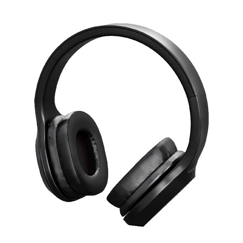 Original LENOVO HD100 Wireless Bluetooth Headphone Noise Isolation 20Hours Playing Time red