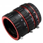 Lens Adapter Mount Auto Focus AF Macro Extension Tube Ring for Canon EF-S Lens T5i T4i T3i T2i 100D 60D 70D 550D 600D 6D 7D Lens Black red