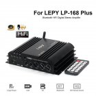 Lepy LP-168 Plus Bluetooth IR/2.1CH 45W-2 68W BASS HiFi Digital Stereo Amplifier black_17.6X15.5x4.3 (0.91KG) European standard