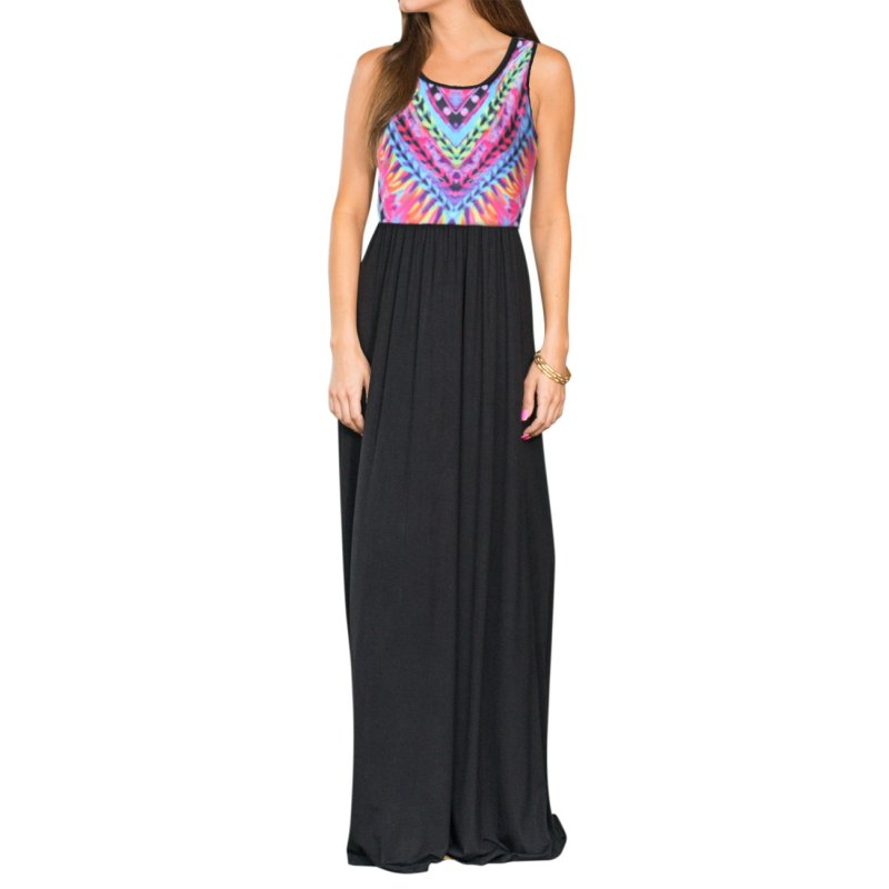 Liebeye Women Sleeveles Maxi Dress