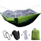 Light Outdoor Breathable Mosquito Net Hammock Anti Rollover Field Camping Leisure Parachute   Army Green 260   140
