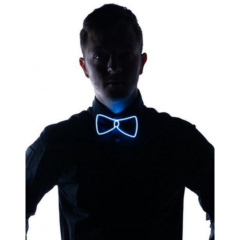 Light Up Bow Tie Blue Light