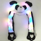 Lighting Lovely Cartoon Jumping Animal Ears Soft Plush Hat Air Bladder Cap Panda 2