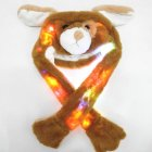 Lighting Lovely Cartoon Jumping Animal Ears Soft Plush Hat Air Bladder Cap puppy