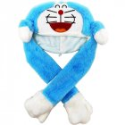 Lighting Lovely Cartoon Jumping Animal Ears Soft Plush Hat Air Bladder Cap Blue doraemon hat