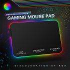 Lighting Mouse Pad Anti-slip RCB Colorful Gaming Mouse Mat 800*300*4MM/ 350*250*3MM black_350 * 250 * 3MM