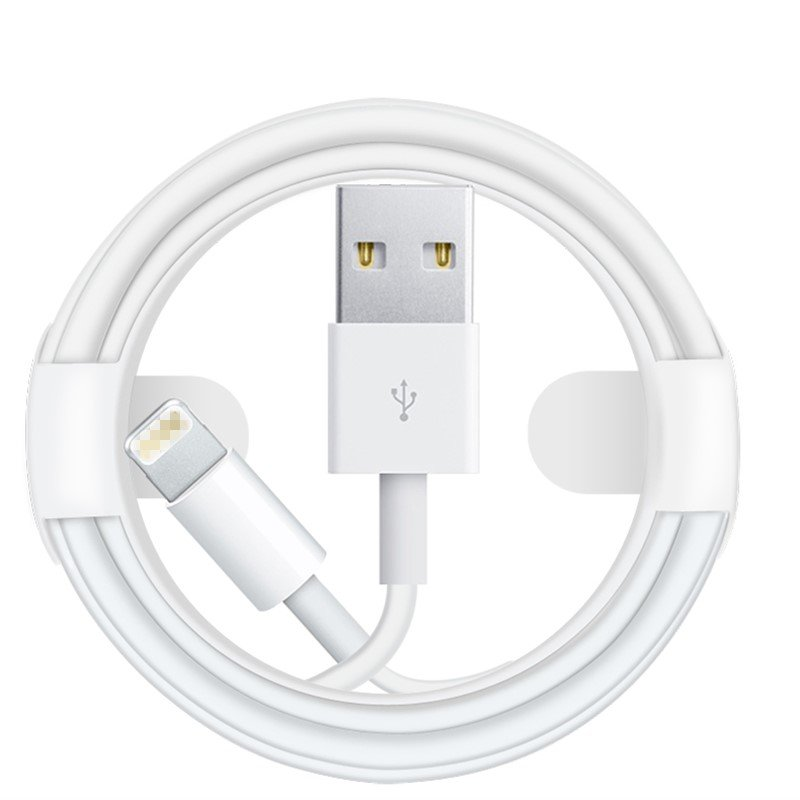 Lightning Cable 2A 1.0m(3Ft) USB Cable Adapter For iPhone white