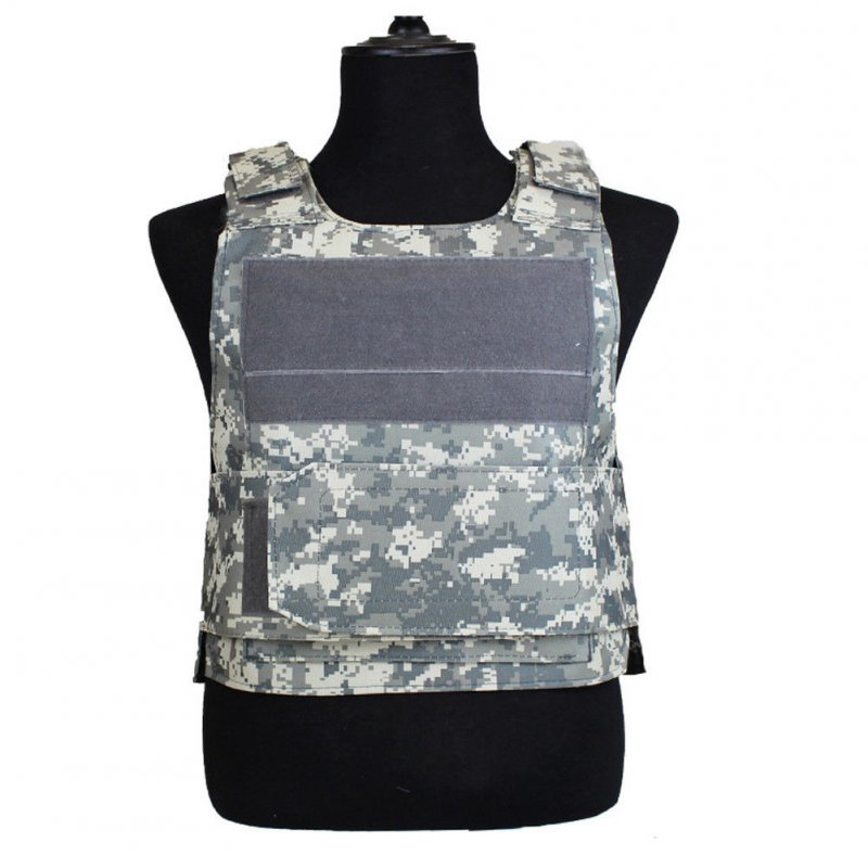 Lightweight Armor Plate Tactical SWAT Vest Protective Clothes for Police  ACU camouflage_Free size