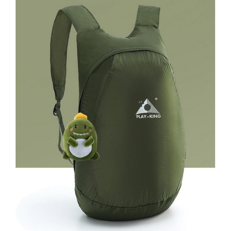Lightweight Nylon Foldable Backpack Waterproof Backpack Folding bag Ultralight Outdoor Pack for Women Men Travel Hiking Army Green
