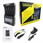 LiitoKala lii-500S LCD Screen Battery Charger 18650 Charger for 18650 26650 21700 AA AAA Batteries Touch Control UK plug