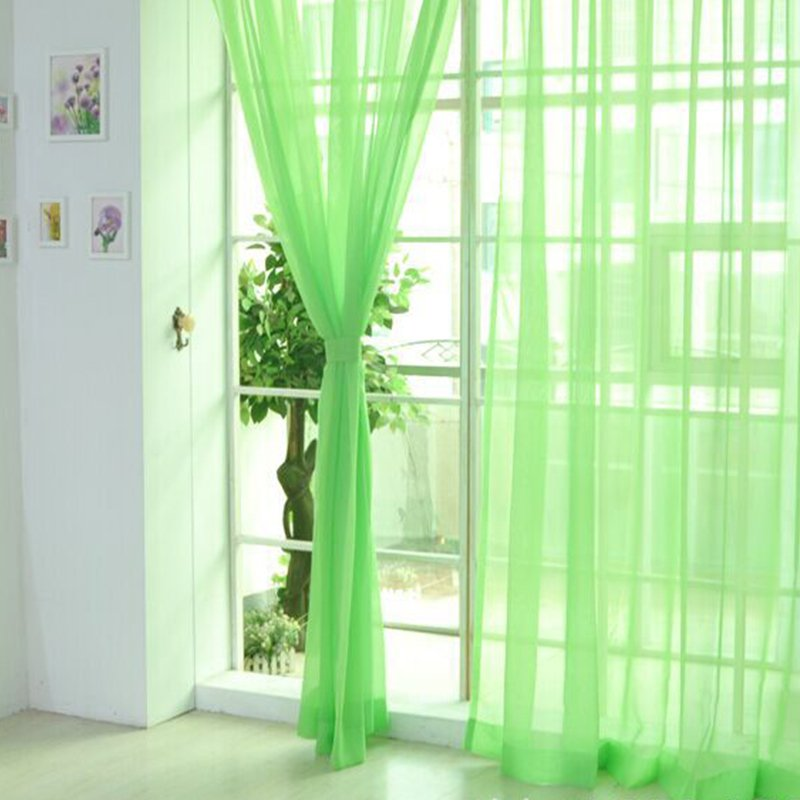 Line String Window Curtain Door Room Tulle Voile Drape Panel Sheer Scarf Valances