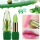Lip Balm 99% Aloe Vera Color Changing With Temperature Jelly Lipstick Plant Moisturizing Lip Gloss Lips Care Temperature change_3.5g