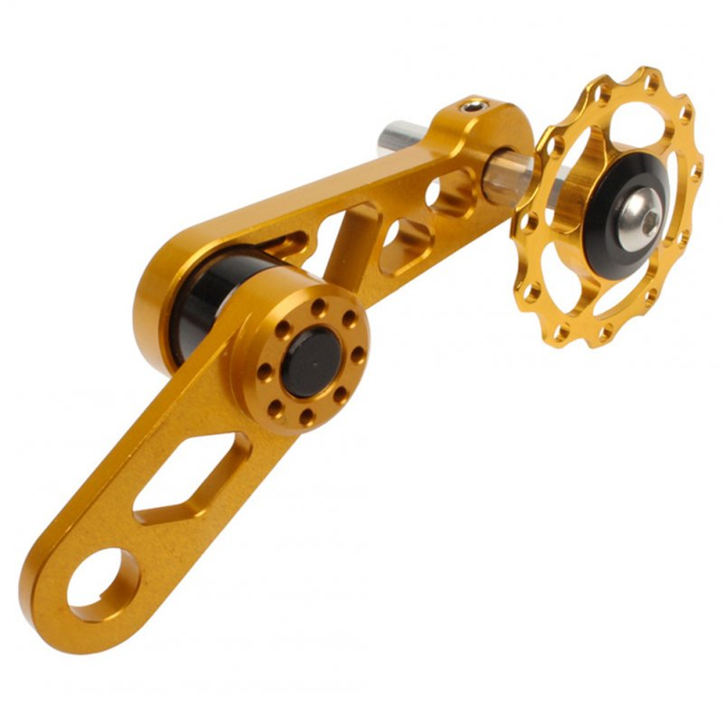 Litepro Folding Bike Chainring Tensioner Rear Derailleur Chain Guide Pulley for Oval Tooth Plate Wheel Chain Xipper Bike parts Gold