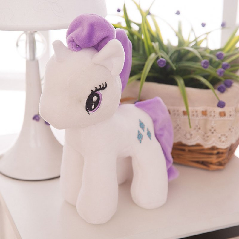 Little Pony Rainbow Plush Soft Kids Hug Stuff Toy 20cm Toy Doll Gift White