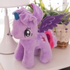 Little Pony Rainbow Plush Soft Kids Hug Stuff Toy 20cm Toy Doll Gift purple