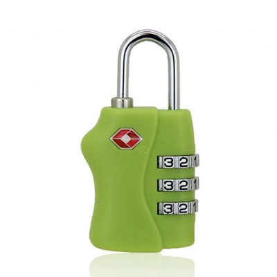 Lock Security 3 Digit Combination Suitcase Luggage Bag Code Lock Padlock Red, rose, yellow, apple green, sky blue, black_green