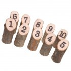 Log-shape Wooden Number 1-10 Table Cards Reception Seat Card for Wedding Party Decoration 10Pcs/Set