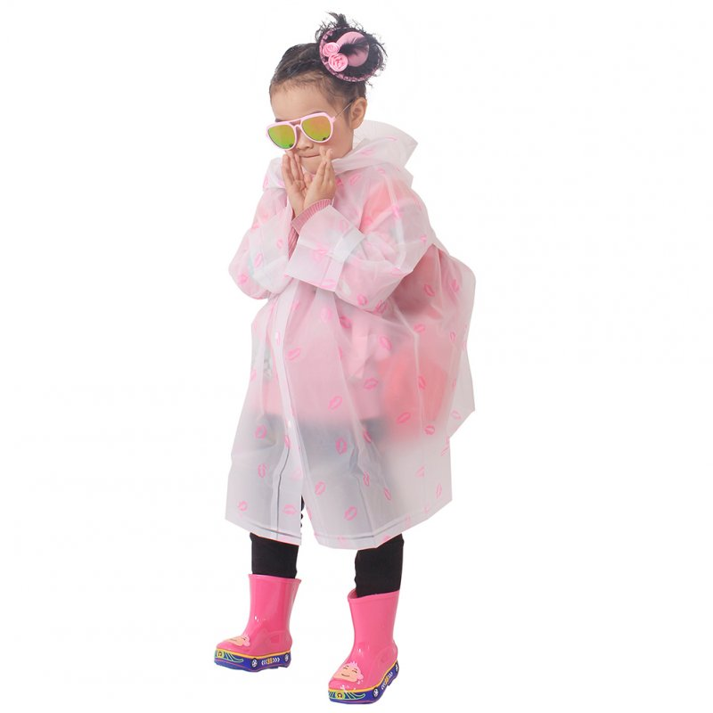 Long Design Children Full Cover Raincoat with School Bag Position transparent_XL