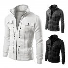Long Sleeve Jacket Men Casual Mens Jackets And Coats  white 3XL