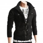 Long Sleeve Jacket Men Casual Mens Jackets And Coats  black_XL