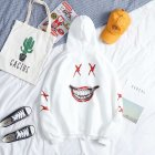 Long Sleeves Sweater Loose Casual Pullover Top with Unique Pattern Decor for Man and Woman 937 white_L