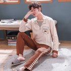 Long Sleeves and round neck Sleepwear Set Loose Casual Home Wear for Man and Woman male_L