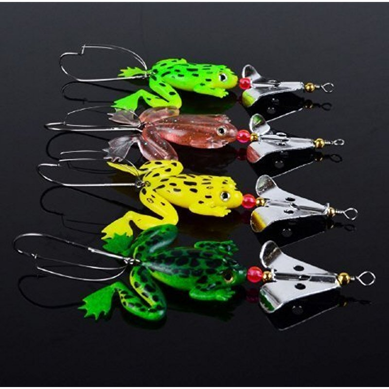4pcs Rubber Frog Soft Fishing Lures