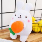 Lovely Carrot Rabbit Soft PP Cotton Plush Doll Toy Throw Pillow Home Sofa Decor plush doll
