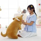 Lovely Fat Shiba Inu Dog Plush Toys Stuffed Soft Cartoon Pillow Dolls Gift for Kids Girls Baby Children Brown Soft Shiba Inu