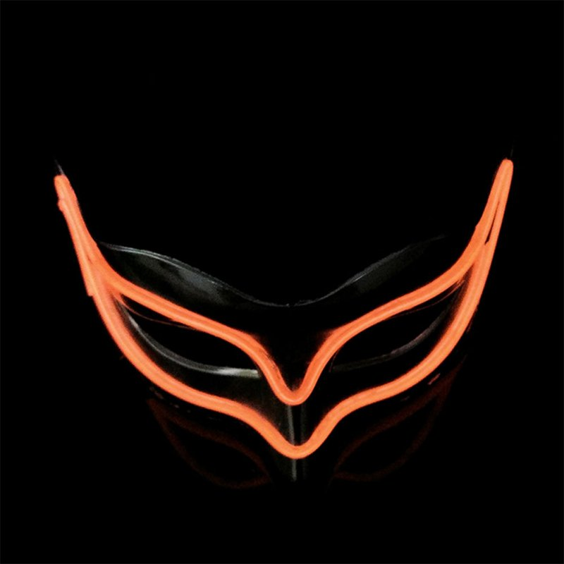 Lovely LED Neon Half Eyes mask for Halloween and Christmas Ball Party Birthday Mask Orange