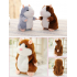 Lovely Talking Plush Hamster Toy Nod Head or Walk  Early Education for Baby  Different Size for Choice   Bright Brown  18cm