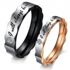 Lover Fahion Simple Titanium Steel Ring