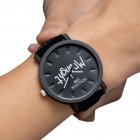 Lovers Stylish Quartz Watch MR/MRS Big/Small Dial Casual Wristwatch Ornament Gift MR big balck dial black watchband