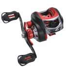 Low-Profile Reel Left and Right Fishing Wheel Bait Casting Hand Fishing Reel Black red (left hand wheel)