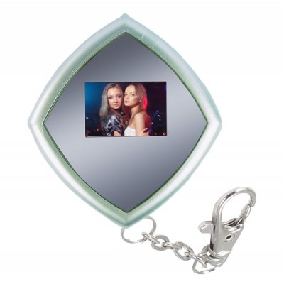 Mini Digital Photo Viewer Keychain - Screen Front + Mirror Back