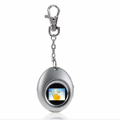 Keyring Grey Digital Photo Viewer - 1.1 Inch LCD - 4MB Memory