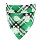 Lucky Green St  Patricks Day Pet Bandanas Scarf Saliva Towel Green plaid