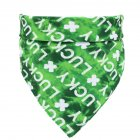 Lucky Green St. Patricks Day Pet Bandanas Scarf Saliva Towel Lucky grass