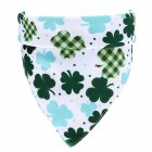 Lucky Green St  Patricks Day Pet Bandanas Scarf Saliva Towel white background