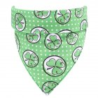 Lucky Green St. Patricks Day Pet Bandanas Scarf Saliva Towel Dot
