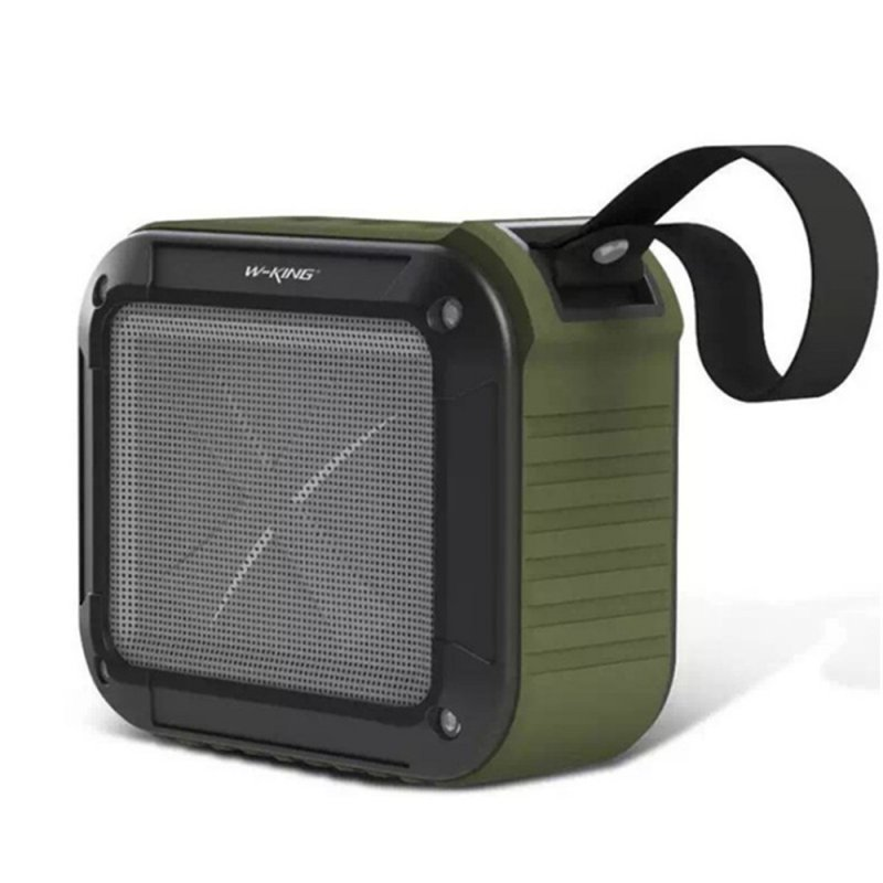 W-KING S7 Mini Wireless Waterproof Loudspeaker with TF/FM/AUX/NFC Bluetooth Bike Speaker for Phones Army Green