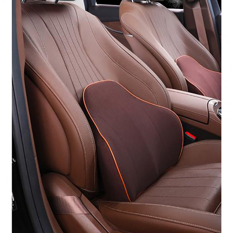 Lumbar Cushion Lower Back Support Pillow for Car Seat Office Chair  brown_36*43*5CM