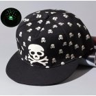 Luminous Hip-Hop Baseball Cap Skull