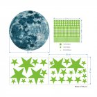 Luminous Moon Stars Wall Stickers for Kids Room Baby Nursery Home Decoration Wall Decals Glow in the Dark Bedroom Ceiling 30cm+3259+3255
