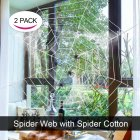 Lumiparty 2Pack Halloween Spider Webs